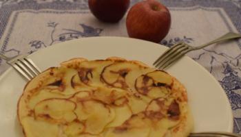 Panqueque acaramelado de manzana
